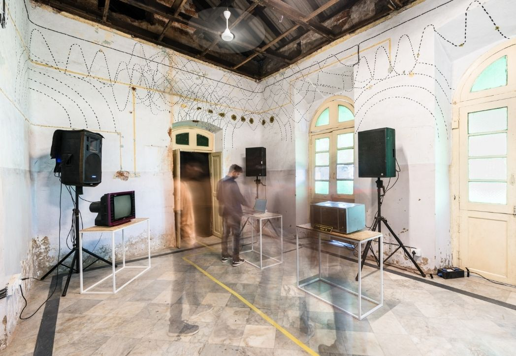 Image courtesy - Serendipity Arts Foundation, Project - Emissions , part of Museum of Sounds in my Head.  Artists - Varun Desai & Viraag Desai                               Curated by - Sneha Khanwalkar Image credit : Philippe Calia and Sunil Thakkar.